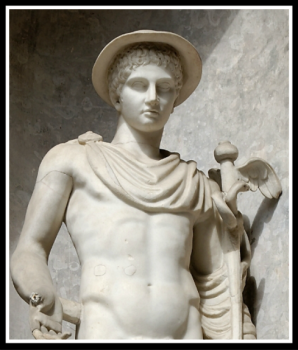 Statue of Hermes/Mercury. Roman copy. 200 AD.