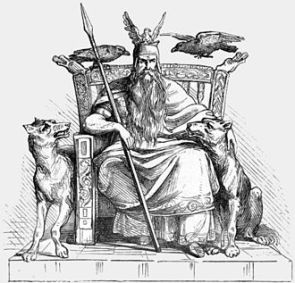"""Odin"". Illustration by Alexander Murray. 1865."