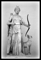 Artemis-Diana with lunar-crescent | Greco-Roman marble statue | Chiaramonti Museum