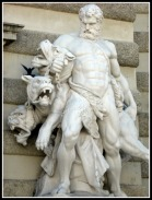 Hercules and Cerberus. Hofburg Imperial Palace, Vienna, Austria.