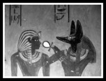 Anubis, the God associated with mummification and the afterlife in ancient Egypt