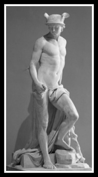 Border Crosser Hermes (Or Mercury) by Augustin Pajou. 1780.