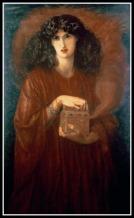 """Pandora"", by Dante Charles Gabriel Rossetti. 19th century."