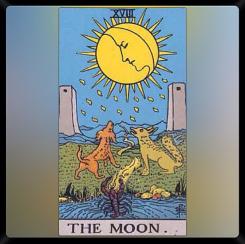 Major Arcana XVIII: The Moon.
