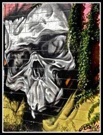 Mural: Skull/Death. ©Resa McConaghy.