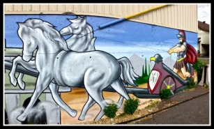 Mural. Charioteer and Chariot. ©Resa McConaghy.