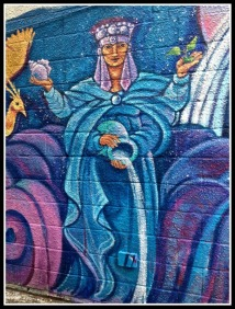 Mural: Woman and Water. ©Resa McConaghy.