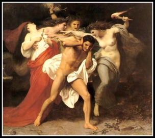 """Orestes Pursued by the Furies"" by William-Adolphe Bouguereau (1861)."