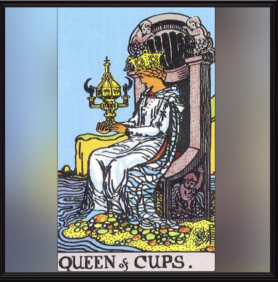Minor Arcana: Queen of Cups.