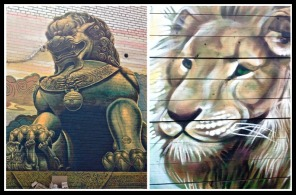 Murals: Fierce and tender lions. ©Resa McConaghy. 2017)