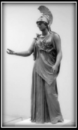 "Bronze statue of the goddess Athena known as ""Athena of Piraeus"" - Classical period, 4th century B.C."