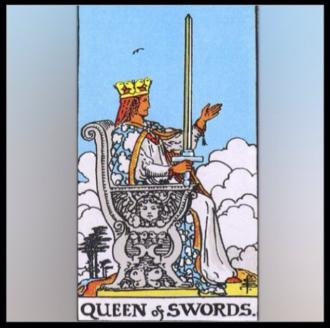 Minor Arcana: Queen of Swords.
