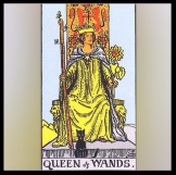 Minor Arcana: Queen of Wands.
